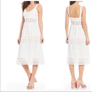 Chelsea & Violet Crochet Lace Midi Dress White NWT